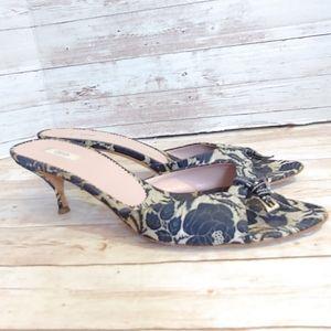 Prada Brocade kitten heel sandals